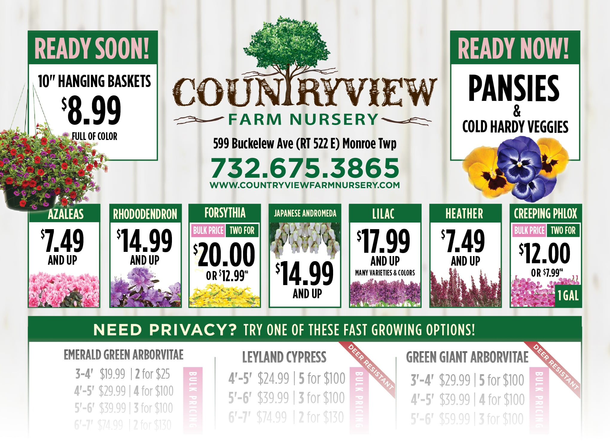 Countryview Farms - Spring Specials 2020