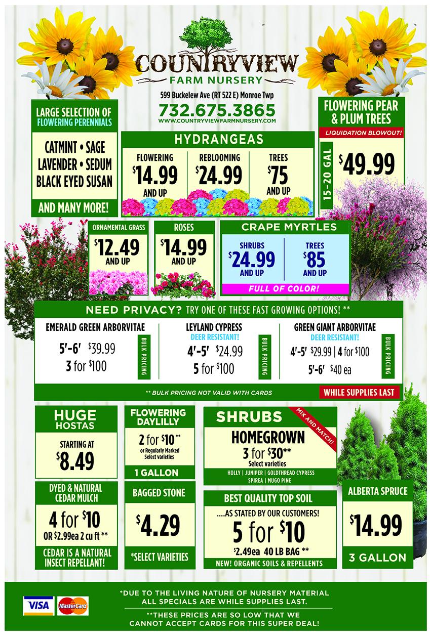 Countryview Farms 2020 Spring Season Specials