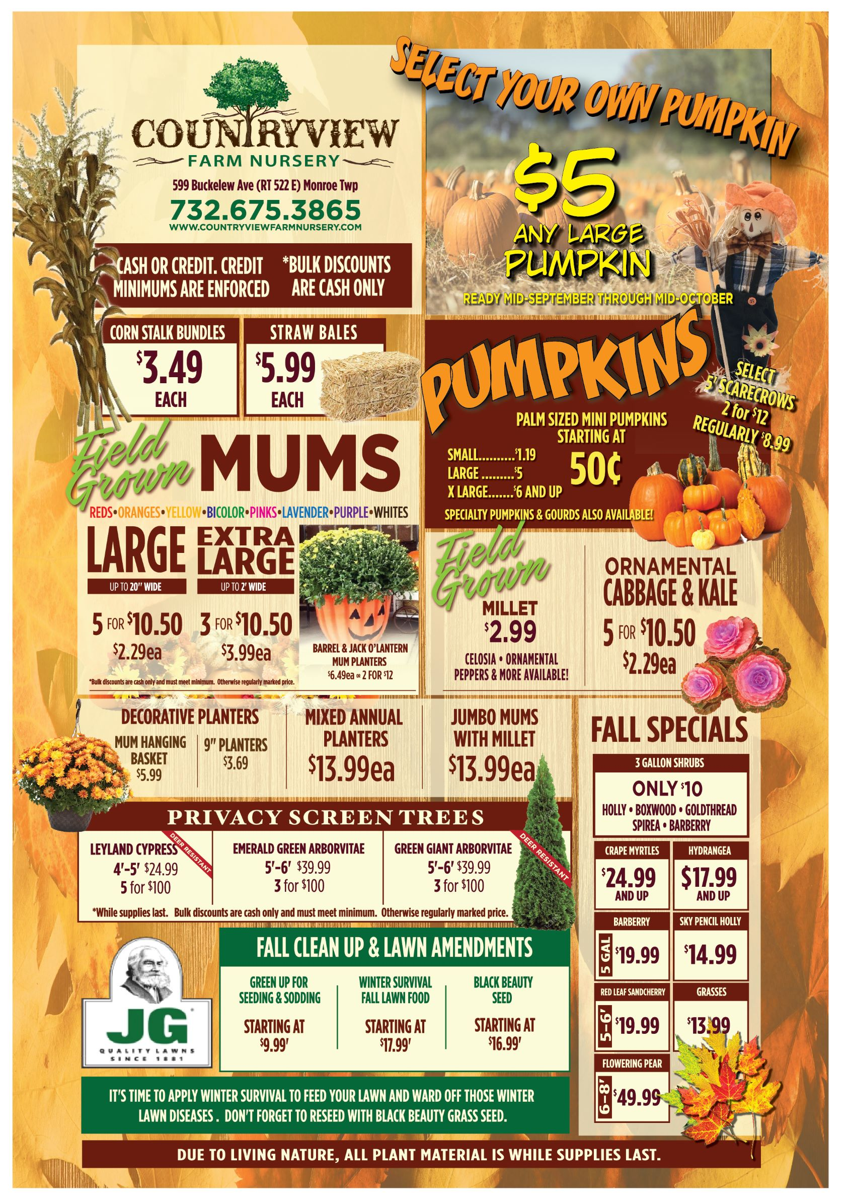 Countryview Farms Advertised Specials